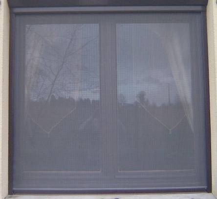 Roller Blind Window Fly Screen Kit 4 Brown Aluminium
