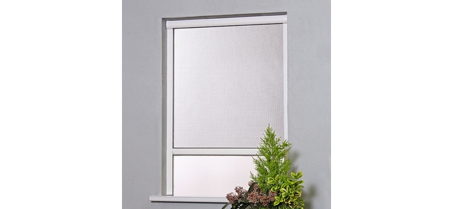 Window Fly Screen Roller Blind - Kit 1 White UPVC