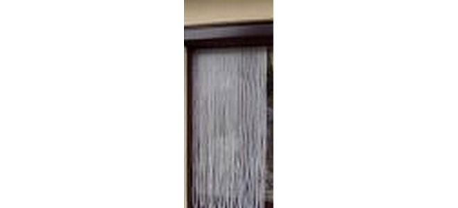 Plastic Strip Door Fly Screen  - White Diamond Twist