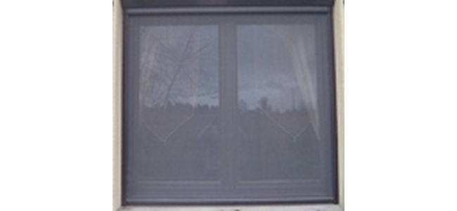 Roller Blind Window Flyscreen - Kit 2 Brown Aluminium