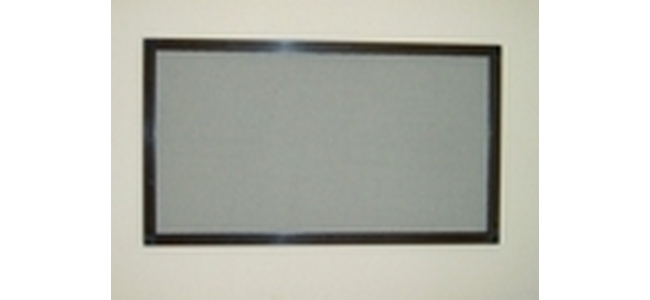 Aluminium Frame Hinged Window Fly Screen - Kit 2 RFB1212 Brown