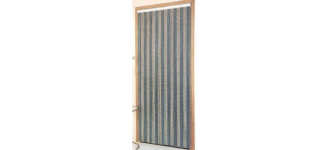 Aluminium Chain Door Fly Screen - Stripes
