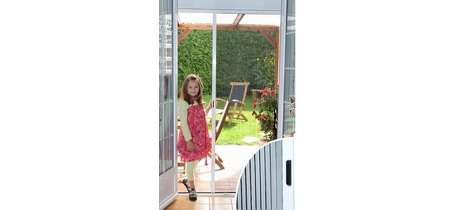 Retractable Concertina Door Fly Screen  - 100cm wide