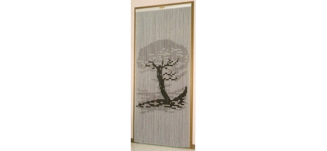Aluminium Chain Link Door Fly Curtain - Bonsai Tree