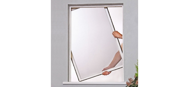 Hinged Aluminium Frame Window Flyscreen - Kit 1 RFW912 White