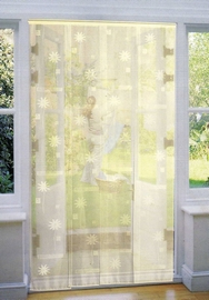 Mesh Strip Door Fly Screen Curtain - Cream