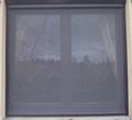 Roller Blind Window Fly Screen - Kit 2 Brown Alu