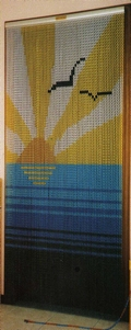 Chain Link Door Fly Screen - Sun and Sea M9976