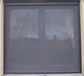 Roller Blind Window Fly Screen - Kit 4 Brown Alu