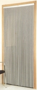 Chain Link Door Fly Screen - Plain Silver
