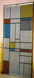Chain Link Door Fly Screen - Squares M9978