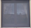 Roller Blind Window Fly Screen - Kit 3 Brown Aluminium