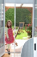 Retractable Concertina Fly Screen  Door - 100cm wide